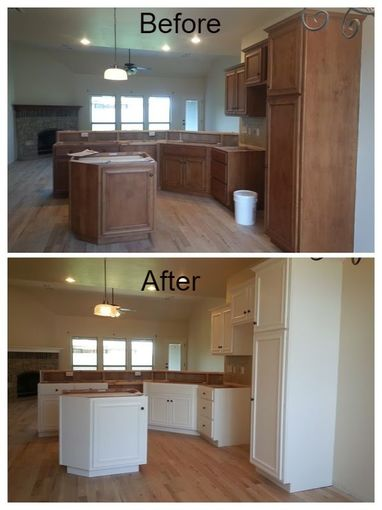 Picture Kitchen cabinet painting by The Tulsa Painters, interior painting tulsa painters painting