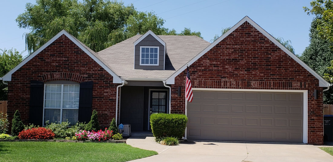 Exterior House painter by The Tulsa Painters
